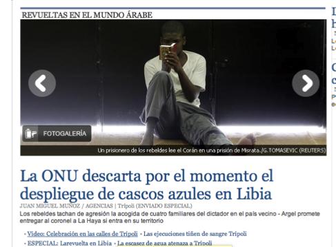 Noticia en la versión online del diario El País.